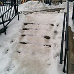 Sidewalk Not Shoveled at Intersection Of N Washington St & Rutherford Ave