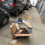 Litter at 124 F St, South Boston