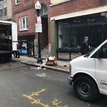 Residential Trash out Illegally at Intersection Of Wiget St & Salem St