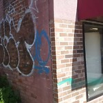 Illegal Graffiti at 417 Blue Hill Ave, Dorchester