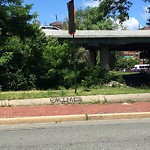 Illegal Graffiti at Intersection Of Marlborough St & Charlesgate E