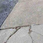 Broken Sidewalk at 26 Breck Ave, Brighton