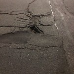 Pothole at Intersection Of Braintree St & Everett St, Brighton