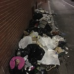 Residential Trash out Illegally at 261 Newbury St