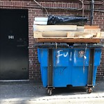 Overflowing Trash Can at 141 Newbury St