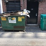 Overflowing Trash Can at 132 Commonwealth Ave