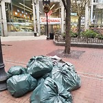 Residential Trash out Illegally at Intersection Of Harvard Pl & Washington St