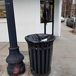 Overflowing Trash Can at 1912 1914 Beacon St, Brighton