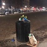 Overflowing Trash Can at Intersection Of W Brookline St & Shawmut Ave, Roxbury