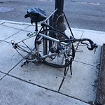 Abandoned Bicycle at 132 Brookline Ave