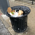 Overflowing Trash Can at Intersection Of Richmond St & North St