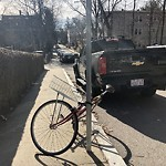 Abandoned Bicycle at Lee St Dorchester Center Boston