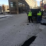 Pothole at Intersection Of Exeter St & Huntington Ave