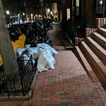 Residential Trash out Illegally at 34 Hancock St, 1a