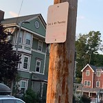 Damaged Sign at 46 Forest Hills St, Jamaica Plain