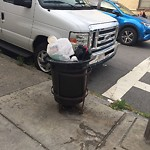 Overflowing Trash Can at 62 Princeton St, East Boston