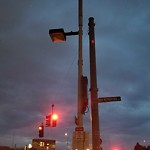 Street Lights at Intersection Of Austin St & New Rutherford Ave, Charlestown