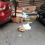 Residential Trash out Illegally at 214 218 W Canton St