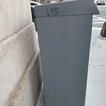 Illegal Graffiti at Intersection Of Massachusetts Ave & Huntington Ave