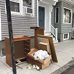 Residential Trash out Illegally at 649 E Seventh St, South Boston