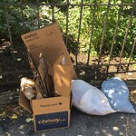 Residential Trash out Illegally at Intersection Of Public Alley No. 301 & Mount Vernon Sq