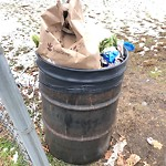 Overflowing Trash Can at Intersection Of Centervale Park & Bourneside St, Dorchester