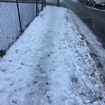 Sidewalk Not Shoveled at Intersection Of Westford St & Raymond St, Allston
