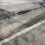 Pothole at Intersection Of Buttonwood St & Columbia Rd, Dorchester