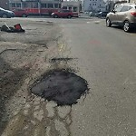Pothole at 277 281 Western Ave, Allston