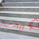 Illegal Graffiti at Intersection Of Walnut St & Beacon St