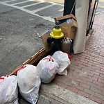 Residential Trash out Illegally at Intersection Of Garden St & Cambridge St