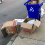 Residential Trash out Illegally at 145 Arlington St