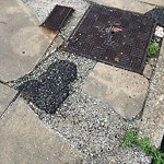 Broken Sidewalk at 389 Seaver St, Dorchester