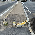 Broken Sidewalk at Intersection Of Spring St & Vfw Pkwy, West Roxbury