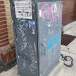 Illegal Graffiti at 1101 Commonwealth Ave, Allston