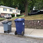 Residential Trash out Illegally at 153 Bigelow St, Brighton