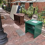 Residential Trash out Illegally at Intersection Of Albemarle St & Saint Botolph St