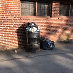 Overflowing Trash Can at 511 Jamaicaway, Jamaica Plain
