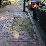 Broken Sidewalk at Intersection Of Union Park & Tremont St, Roxbury