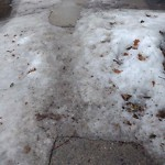 Sidewalk Not Shoveled at 104 Colborne Rd, Brighton