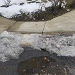 Sidewalk Not Shoveled at Intersection Of Gardena St & Glencoe St, Brighton