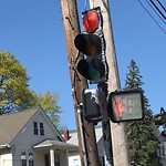 Traffic Signal at Intersection Of Walter St & South St, Roslindale