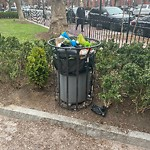 Overflowing Trash Can at Hayes Park